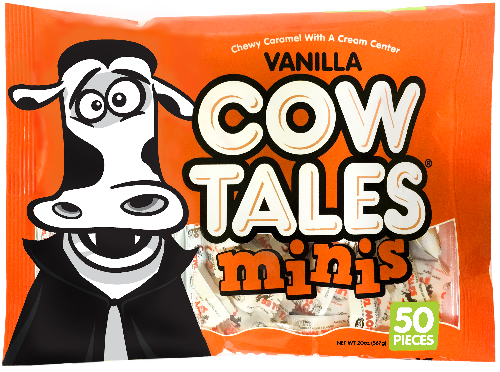 Vanilla Cow Tales Minis Halloween Candy Bag Vampire Made in USA Nut Free