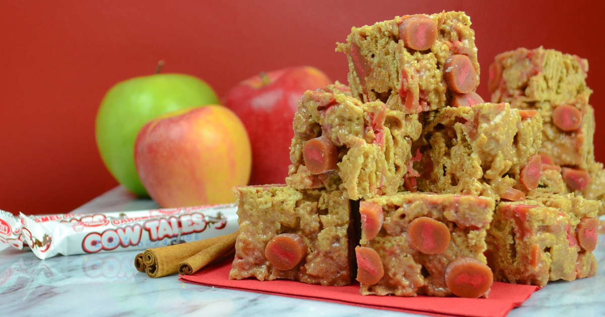Recipe: Caramel Apple Spice Crispy Treat Recipe: Made with Caramel Apple Cow Tales!
