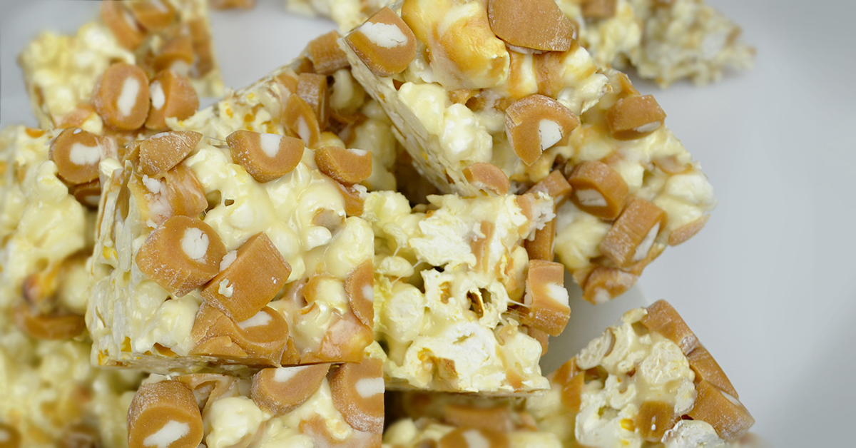 Cow Tales Caramel Popcorn Bars Recipe