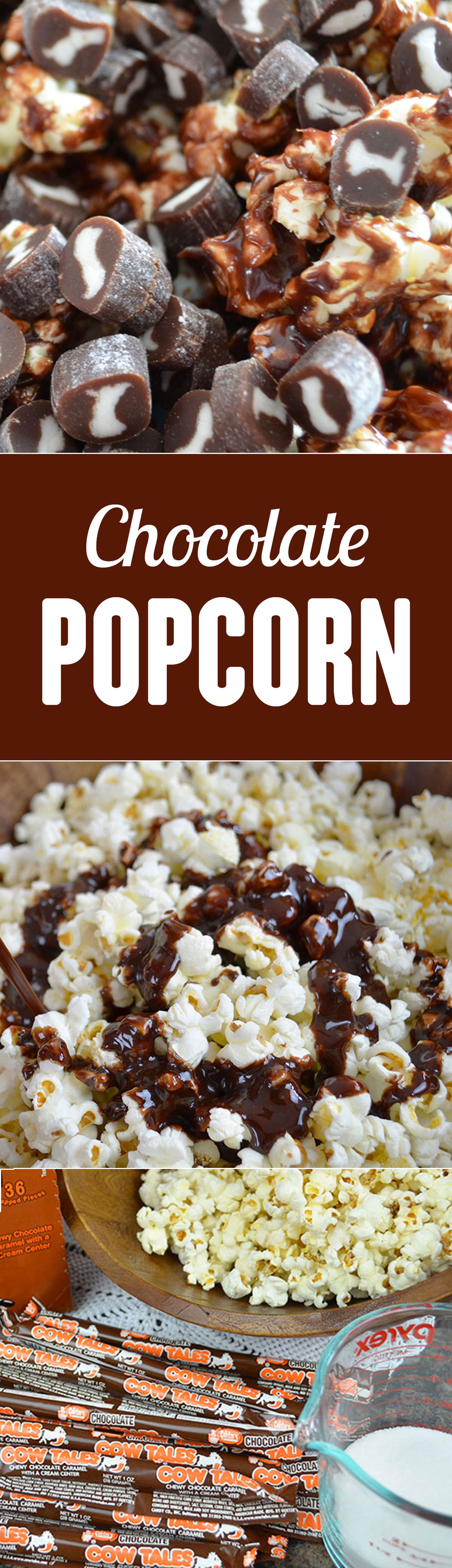 Sweet and salty! This is the best chocolate popcorn recipe I've tried so far! It's super easy and delicious. Save this snack recipe for movie night or a snow day. Chocolate Cow Tales® Popcorn Recipe.