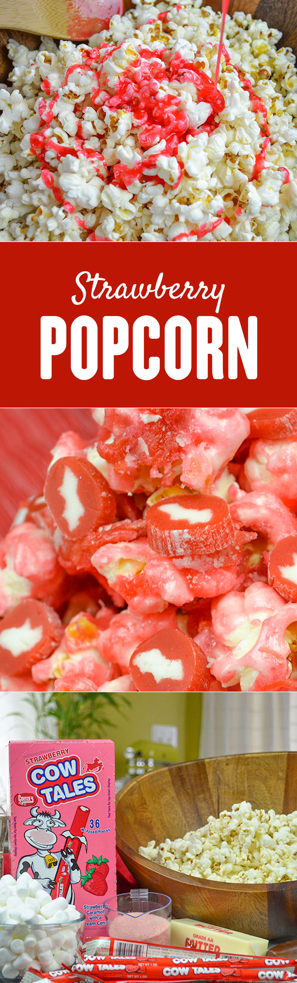 Recipe: Strawberry Caramel Candied Popcorn